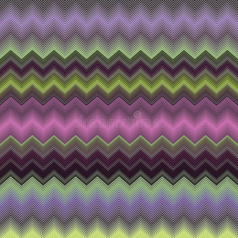 Teste padrão colorido do fundo da decoração da listra do sumário do espectro do inclinação de Chevron do ziguezague ilustração do vetor