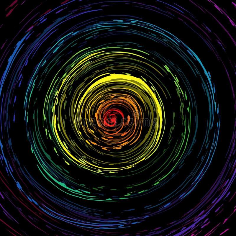 Teste padrão colorido do giro ilustração stock