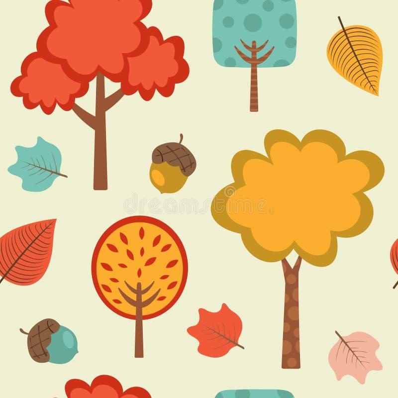 Teste padrão colorido do outono ilustração do vetor