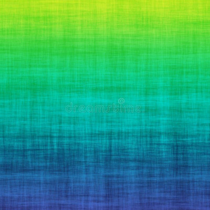 Teste padrão colorido do sumário verde do fundo de Ombre do inclinação de Teal Blue Grunge Linen Cotton ilustração do vetor