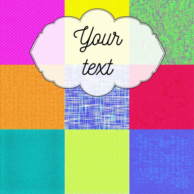 Teste padrão colorido do textil fotos de stock royalty free