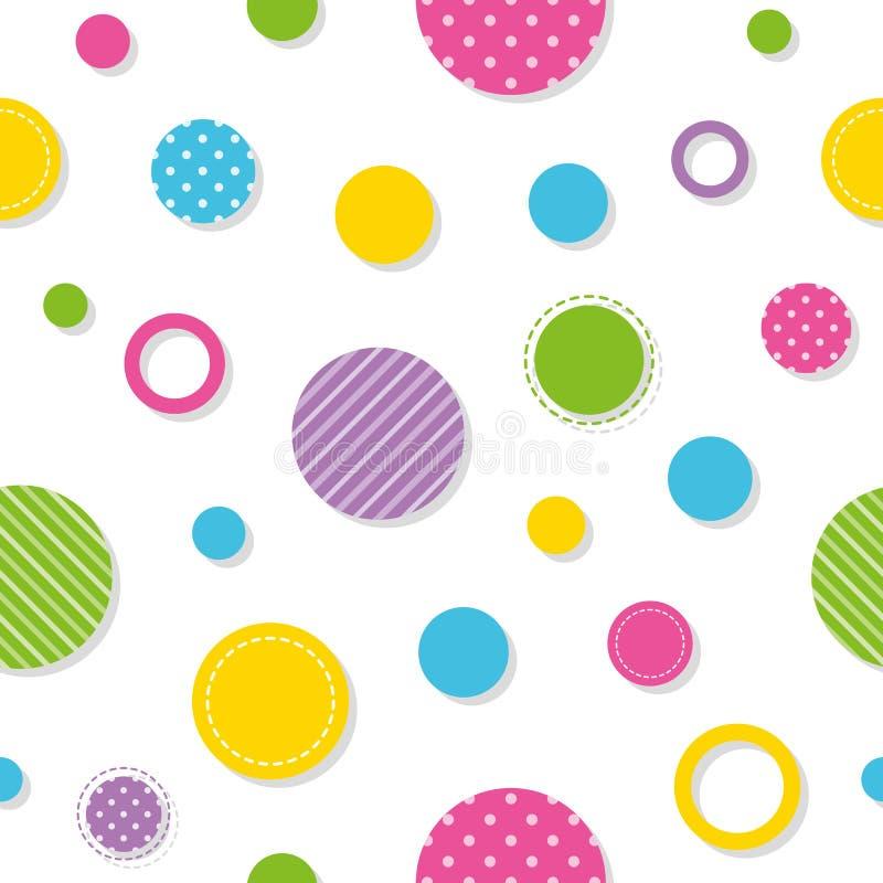 Teste padrão colorido dos círculos ilustração do vetor