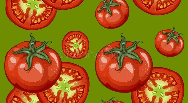 Teste padrão colorido dos vegetais do desenho ilustração do vetor