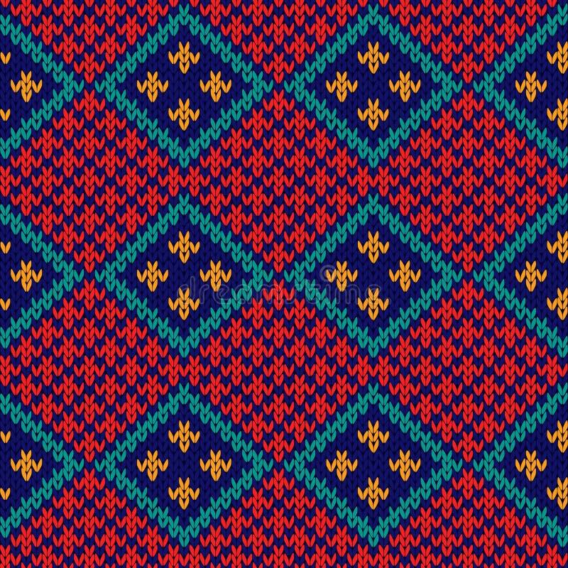 Teste padrão colorido feito malha sem emenda do rombo ilustração stock