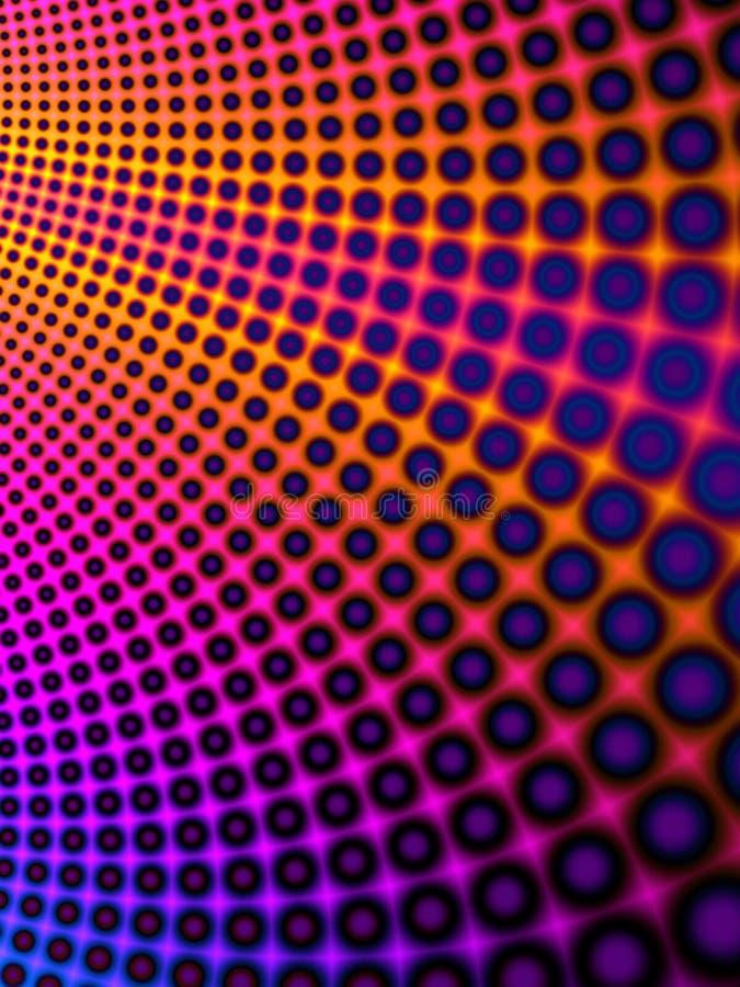 Teste padrão colorido fresco dos círculos ilustração do vetor