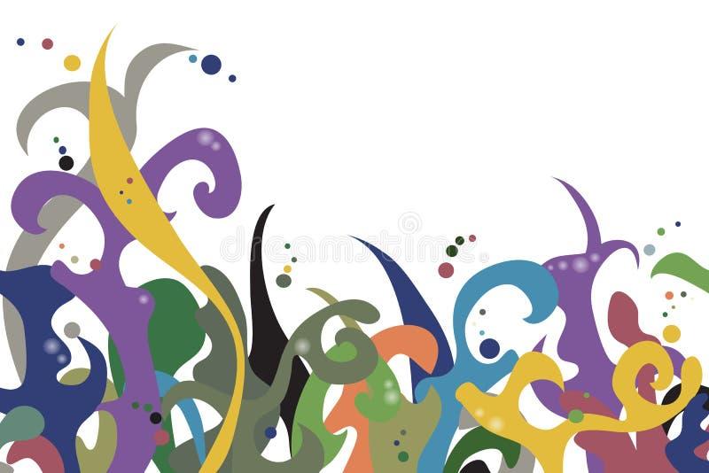 Teste padrão colorido horizontalmente sem emenda para seu projeto ilustração do vetor