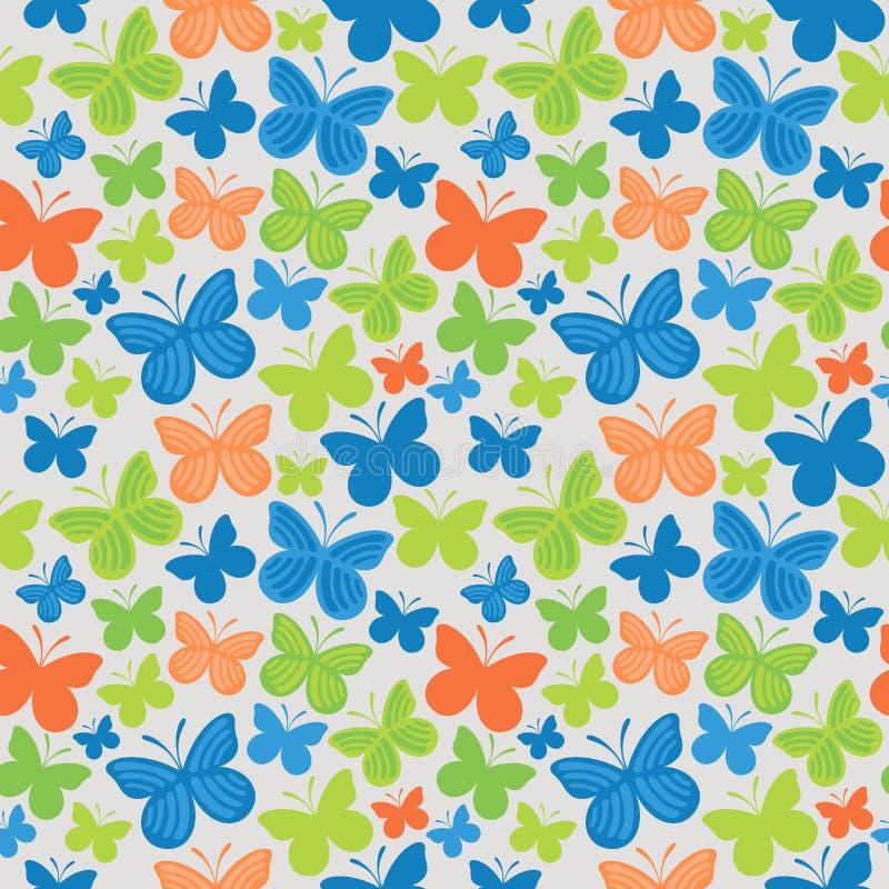 Teste padrão colorido sem emenda da borboleta ilustração do vetor