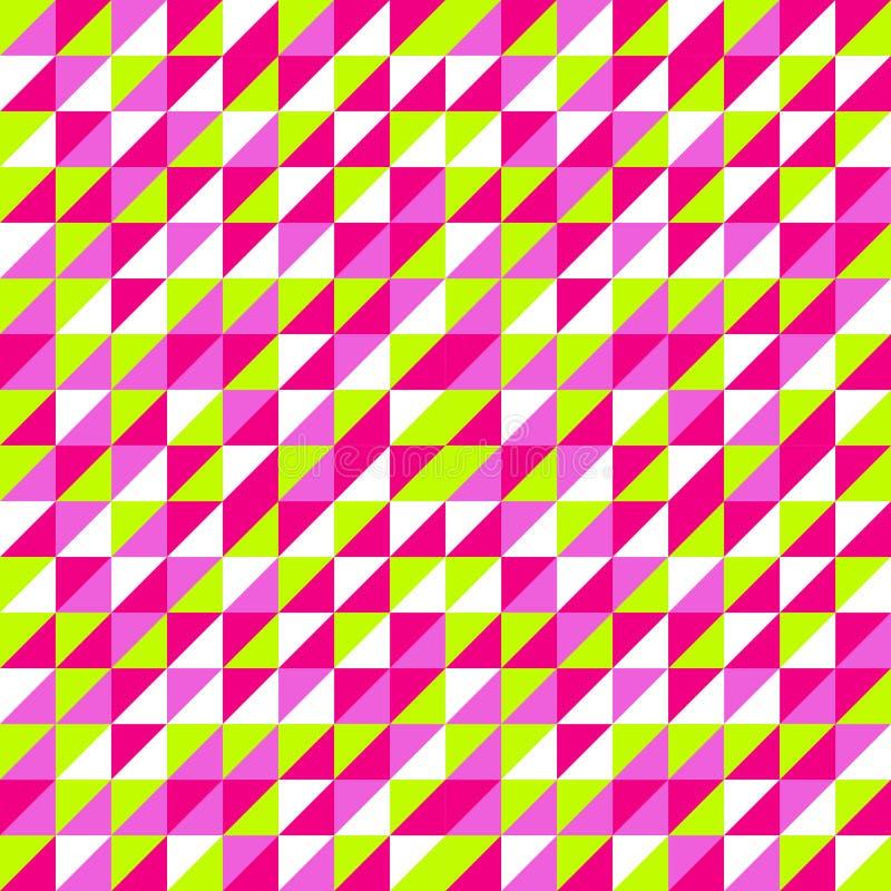 Teste padrão colorido sem emenda do triângulo Fundo do triângulo Geomet imagem de stock