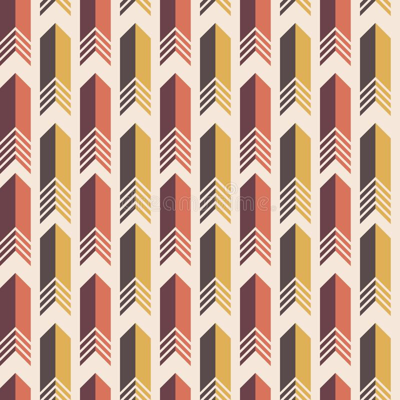 Teste padrão colorido sem emenda do vetor das setas ilustração do vetor