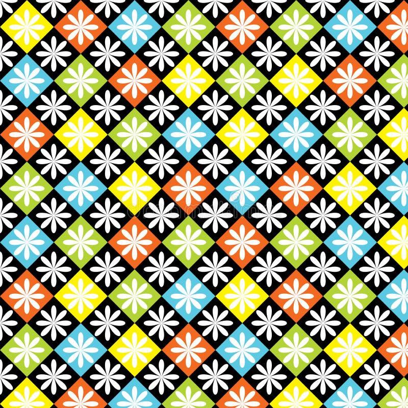 Teste padrão colorido sem emenda dos diamantes ilustração stock