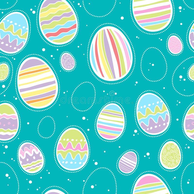 Teste padrão colorido sem emenda dos ovos da páscoa ilustração stock