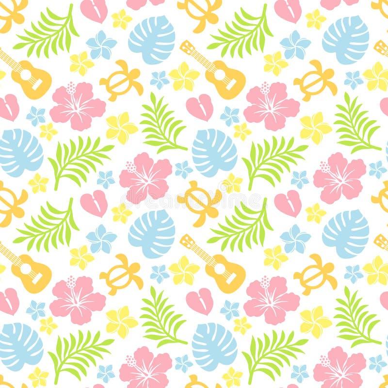 Teste padrão colorido tropical ilustração royalty free
