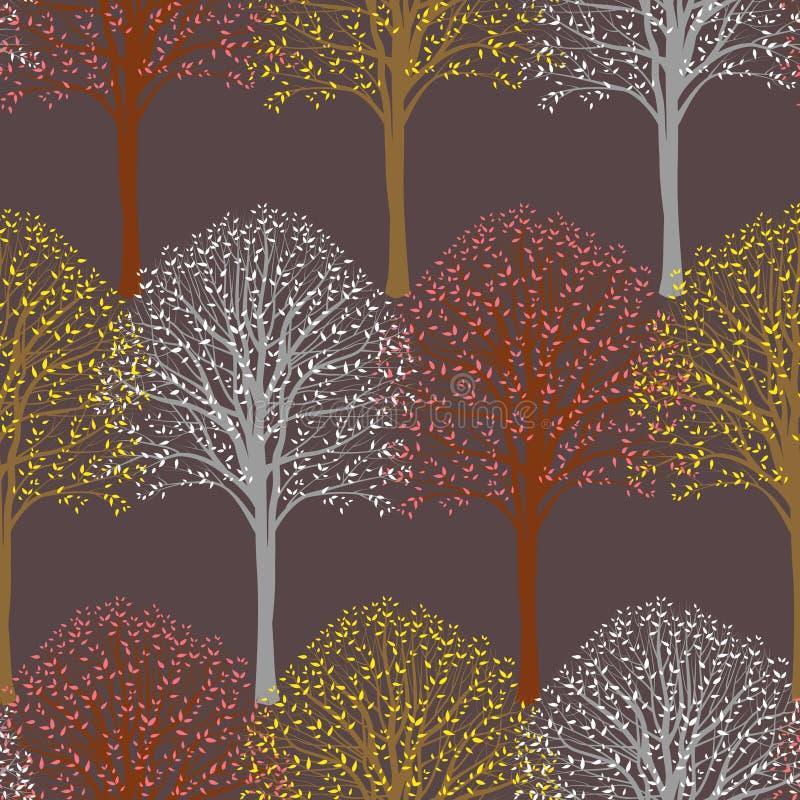 Teste padrão com árvores ilustração royalty free