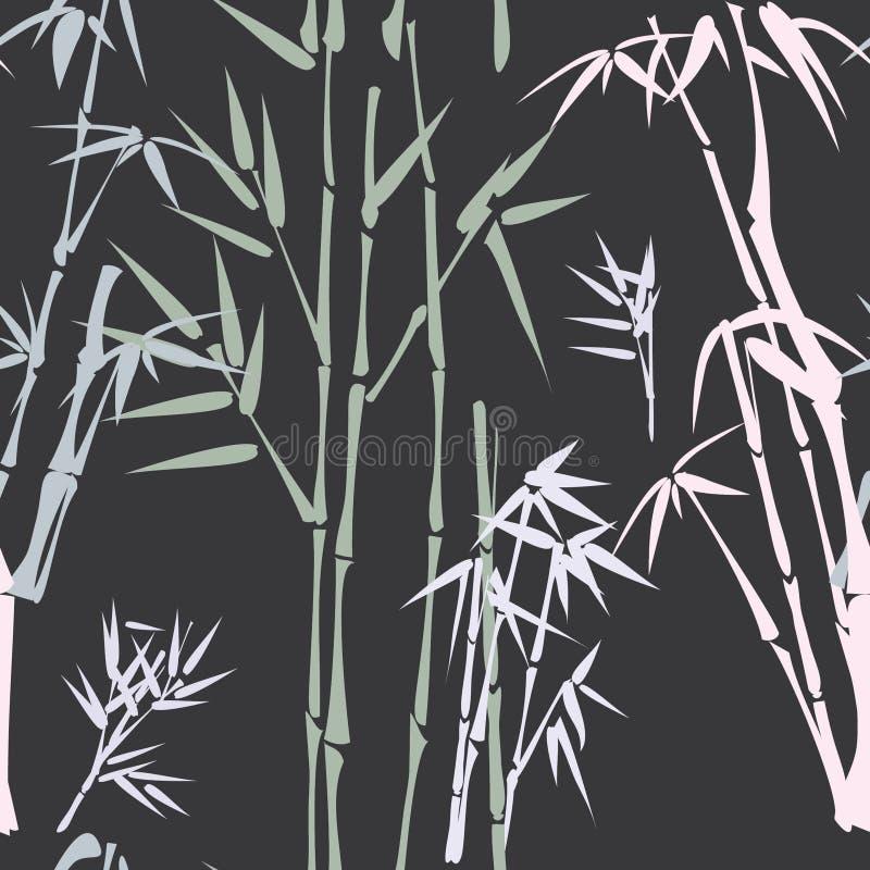 Teste padrão com bambu ilustração royalty free