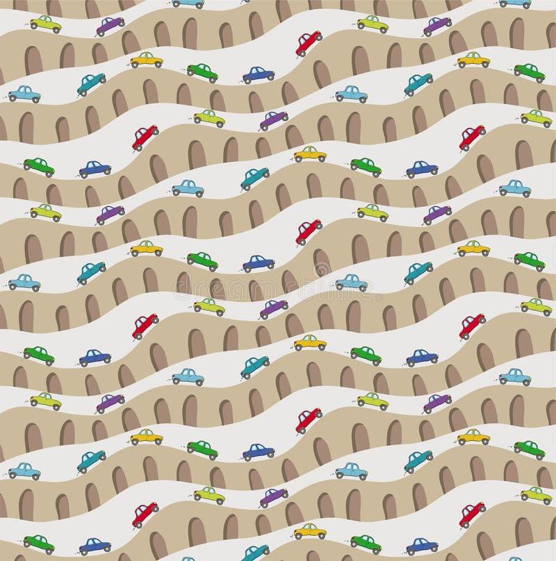 Teste padrão com carros ilustração royalty free