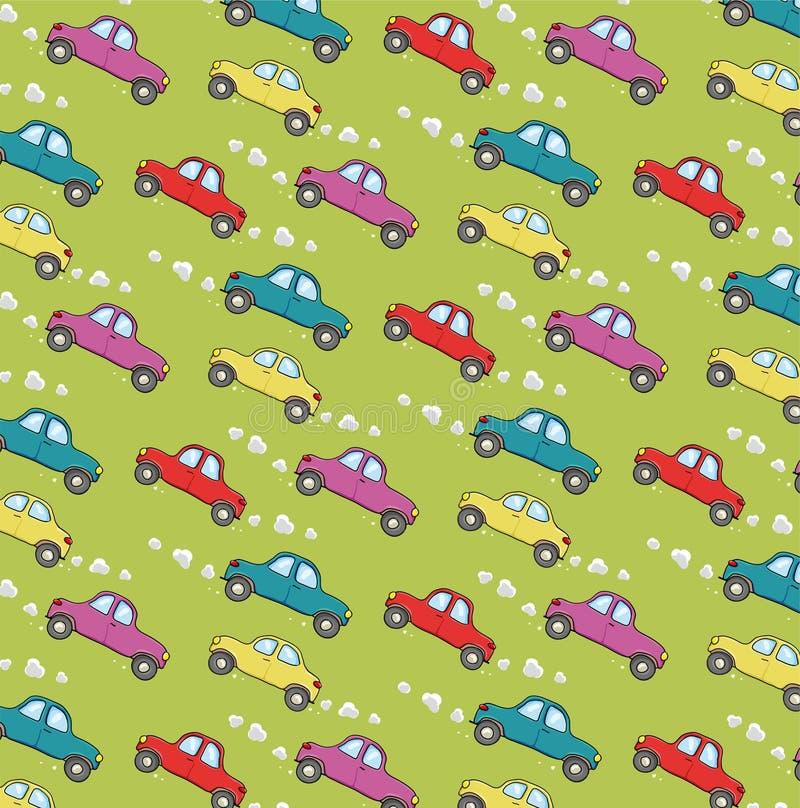 Teste padrão com carros ilustração stock