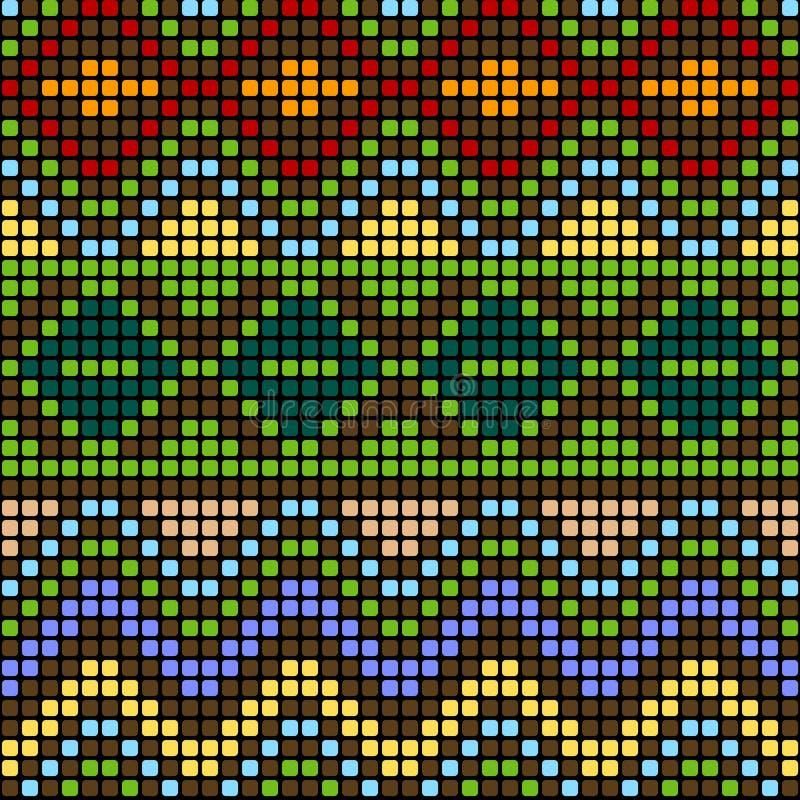 Teste padrão com elementos coloridos ilustração do vetor