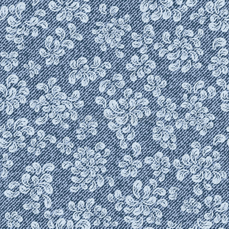 Teste padrão com fundo das calças de brim da sarja de Nimes ilustração do vetor