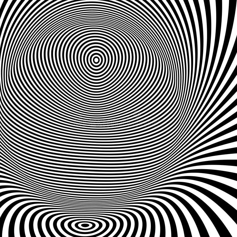 Teste padrão com ilusão ótica Rebecca 36 ilustração royalty free