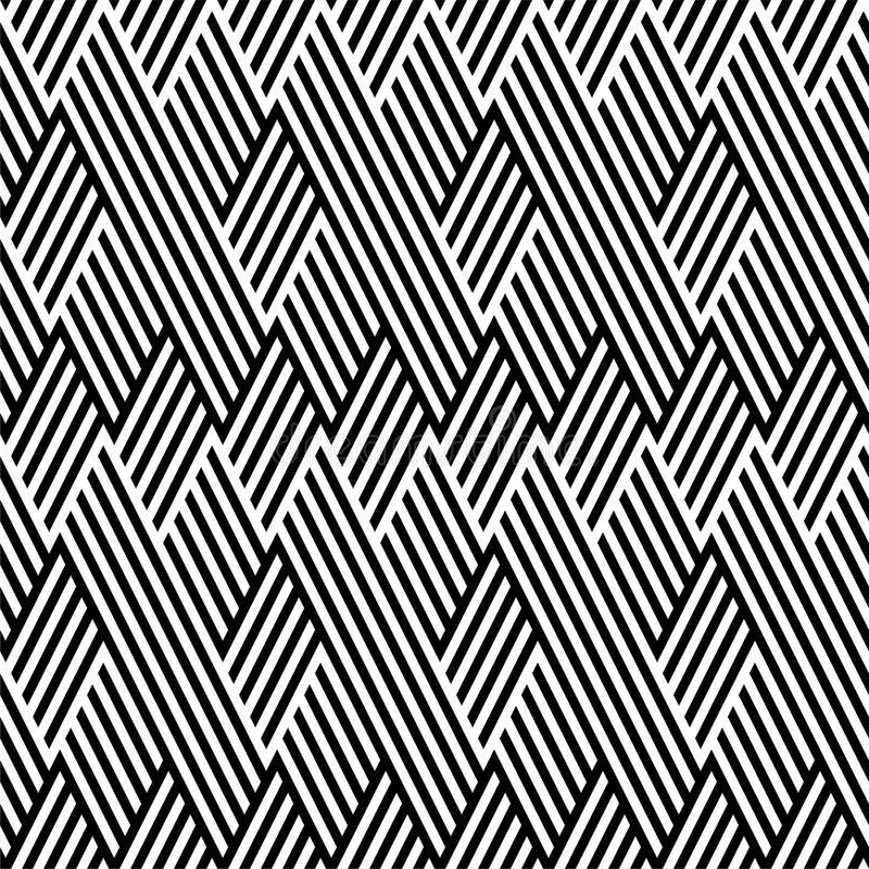 Teste padrão com a linha preto e branco ilustração royalty free