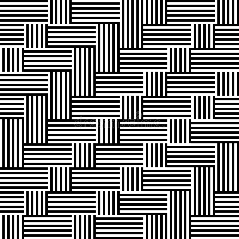 Teste padrão com a listra preto e branco ilustração stock
