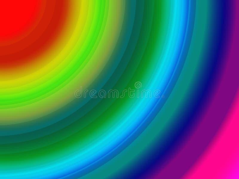 Teste padrão com multi cores finas ilustração royalty free