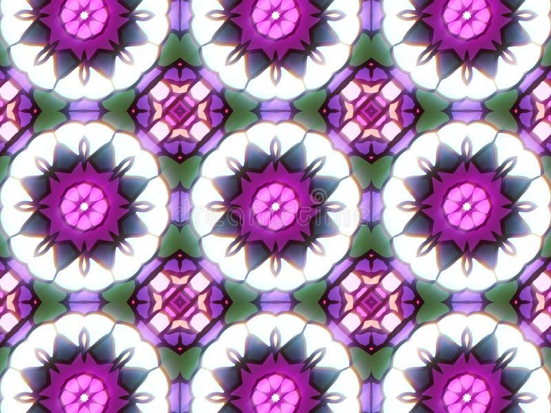 Teste padrão com o ornamento decorativo abstrato do mosaico fotos de stock royalty free