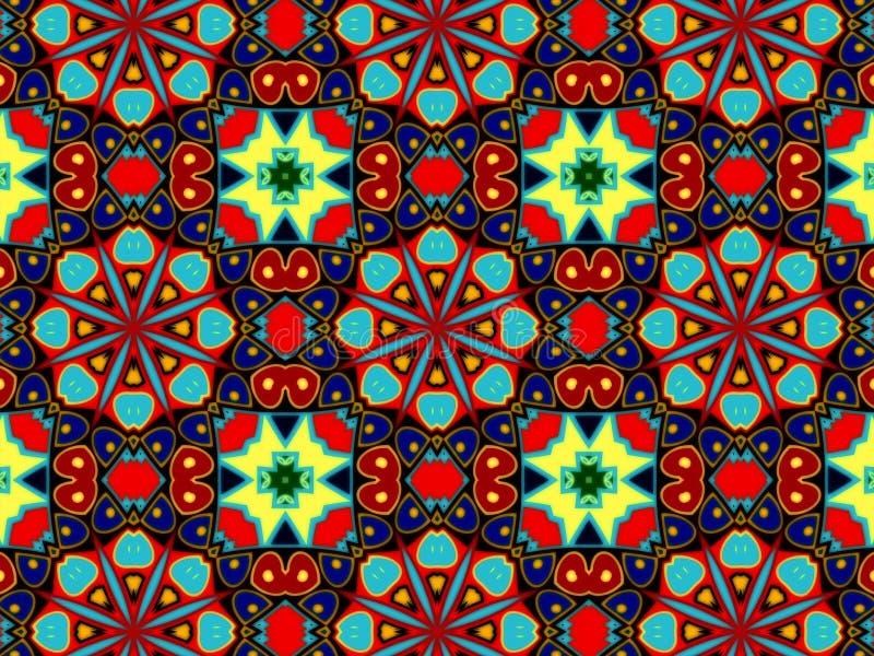 Teste padrão com o ornamento decorativo abstrato do mosaico imagem de stock royalty free