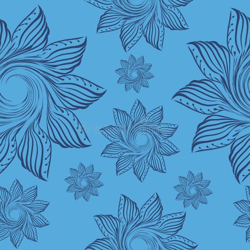 Teste padrão com o ornamento floral para ilustração royalty free