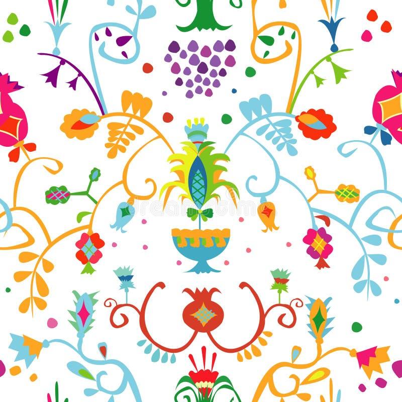 Teste padrão com o ornamento Tatar crimeano fotografia de stock royalty free
