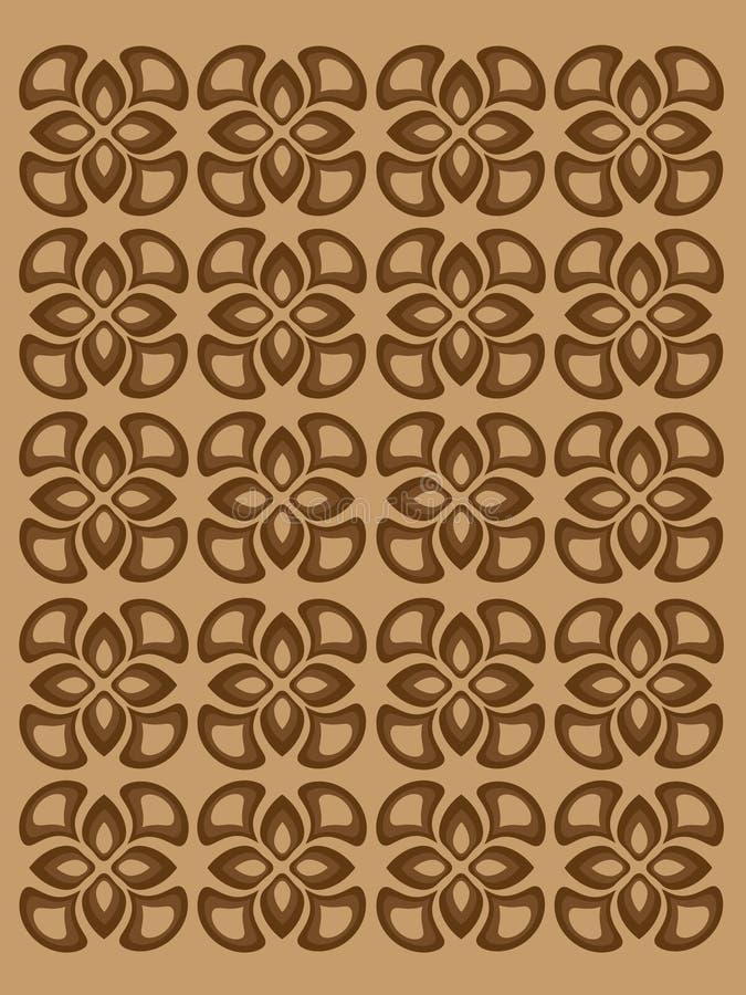 Teste padrão com os elementos decorativos marrons originais ilustração royalty free