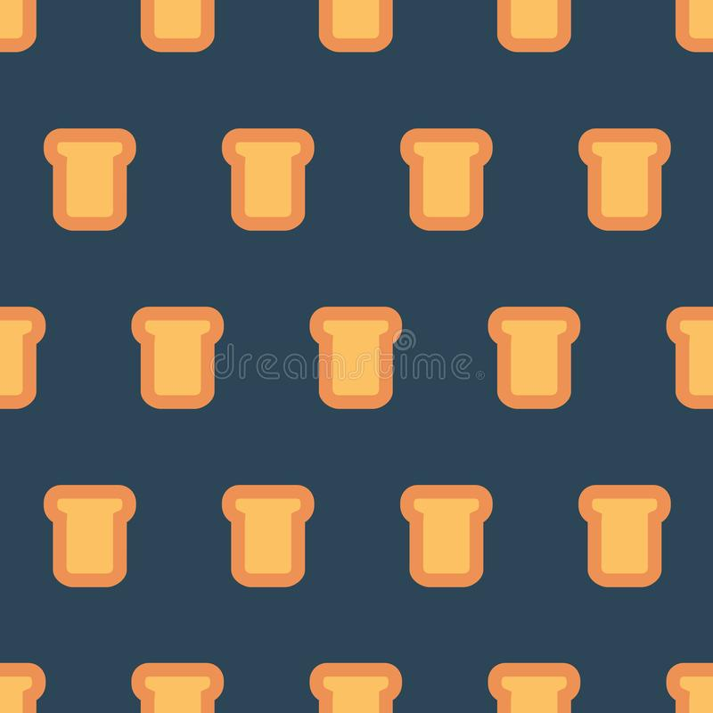 Teste padrão com partes de pão ilustração stock