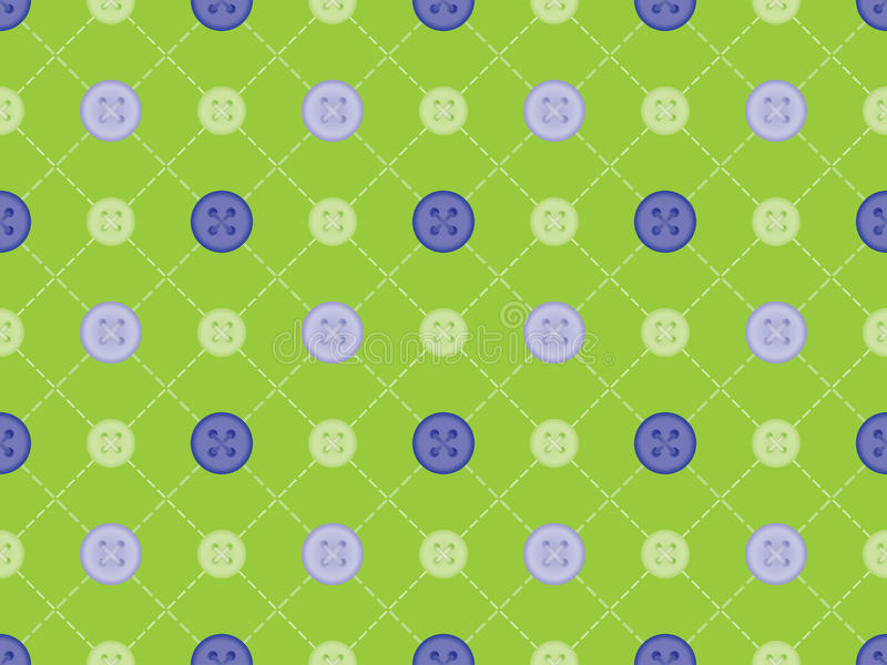 Teste padrão com pontos e botões ilustração do vetor