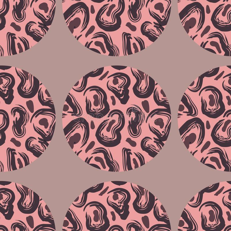 Teste padrão com textura do leopardo ilustração do vetor
