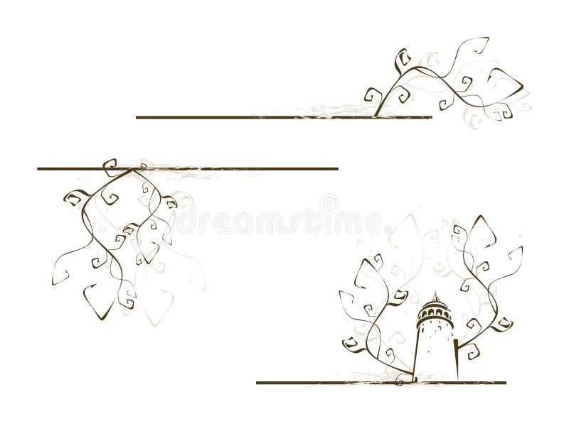 Teste padrão com torre ilustração do vetor