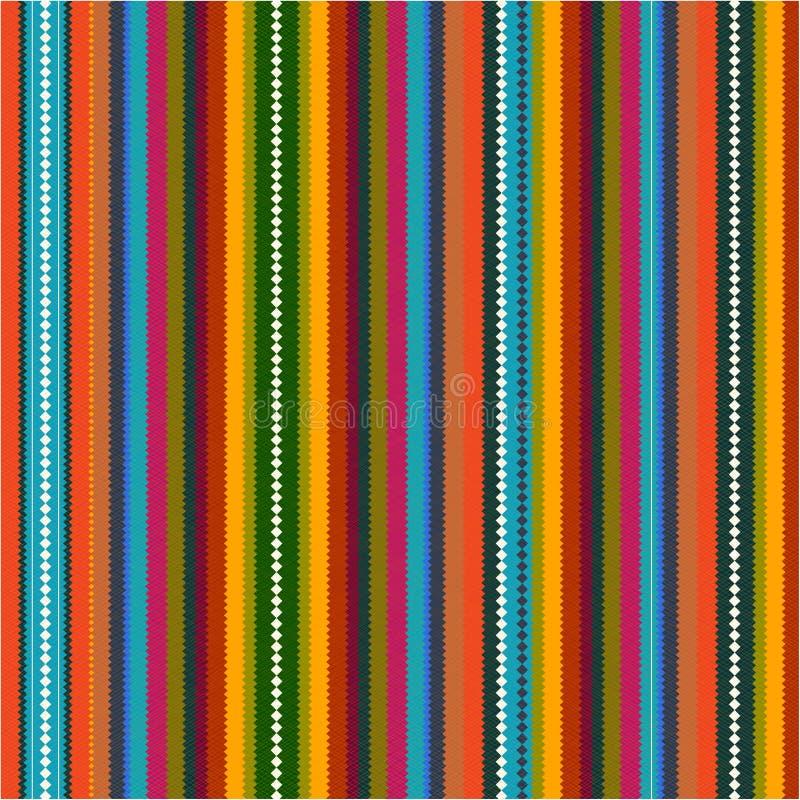 Teste padrão com ziguezague colorido ilustração do vetor