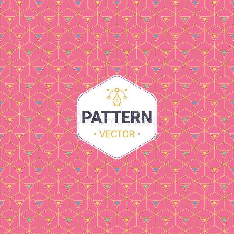 Teste padrão completamente sem emenda, abstrato do cubo Projeto colorido, papel de parede geométrico do vetor 3d ilustração stock