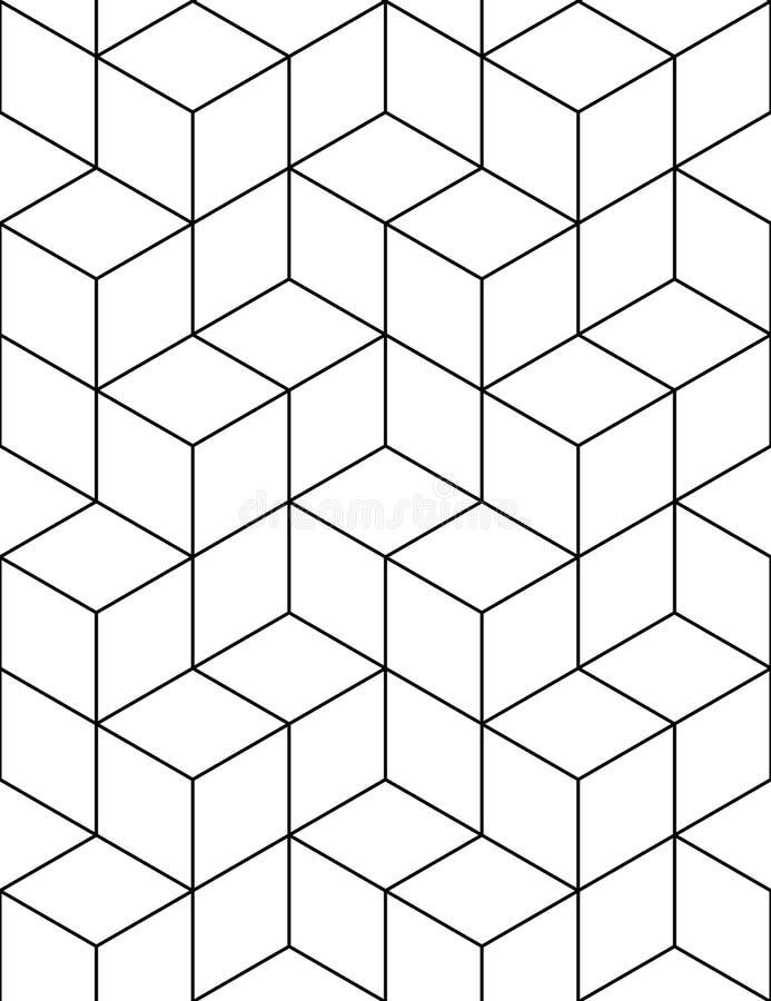 Teste padrão contínuo futurista do contraste, sumário illusive do motivo