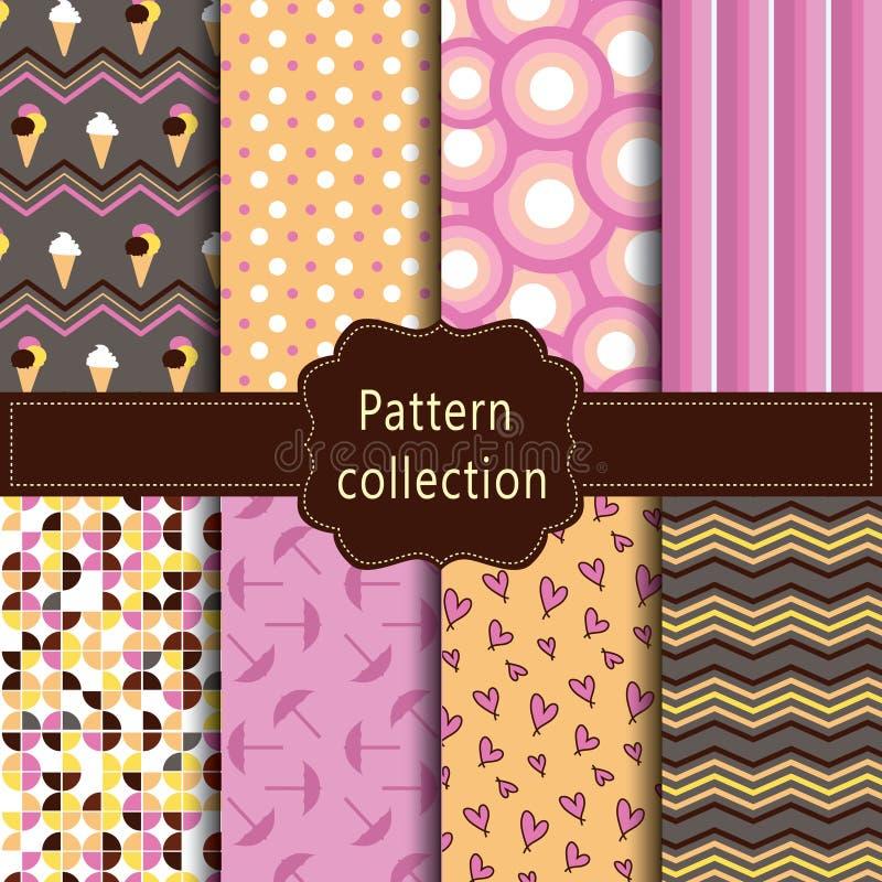 Teste padrão cor-de-rosa, alaranjado e marrom moderno imagens de stock