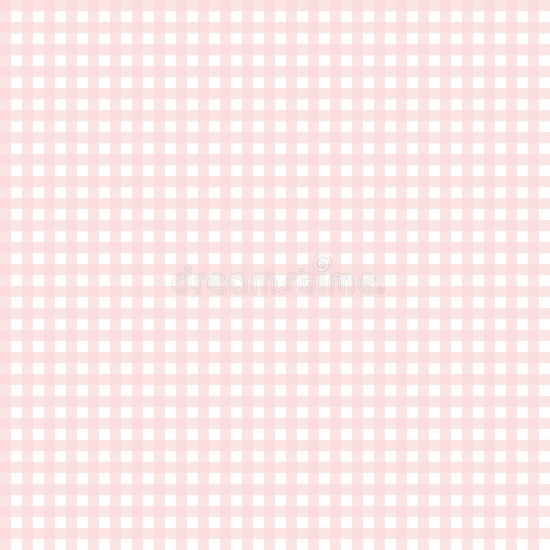 Teste padrão cor-de-rosa bonito do guingão ilustração do vetor