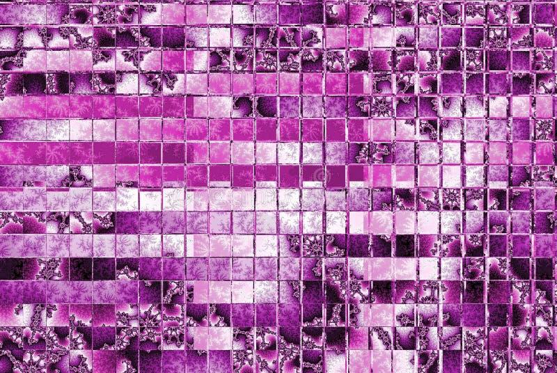 Teste padrão cor-de-rosa da mola no mosaico dos quadrados imagem de stock royalty free