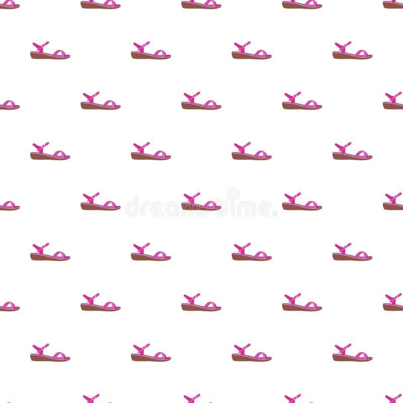 Teste padrão cor-de-rosa da sandália sem emenda ilustração royalty free