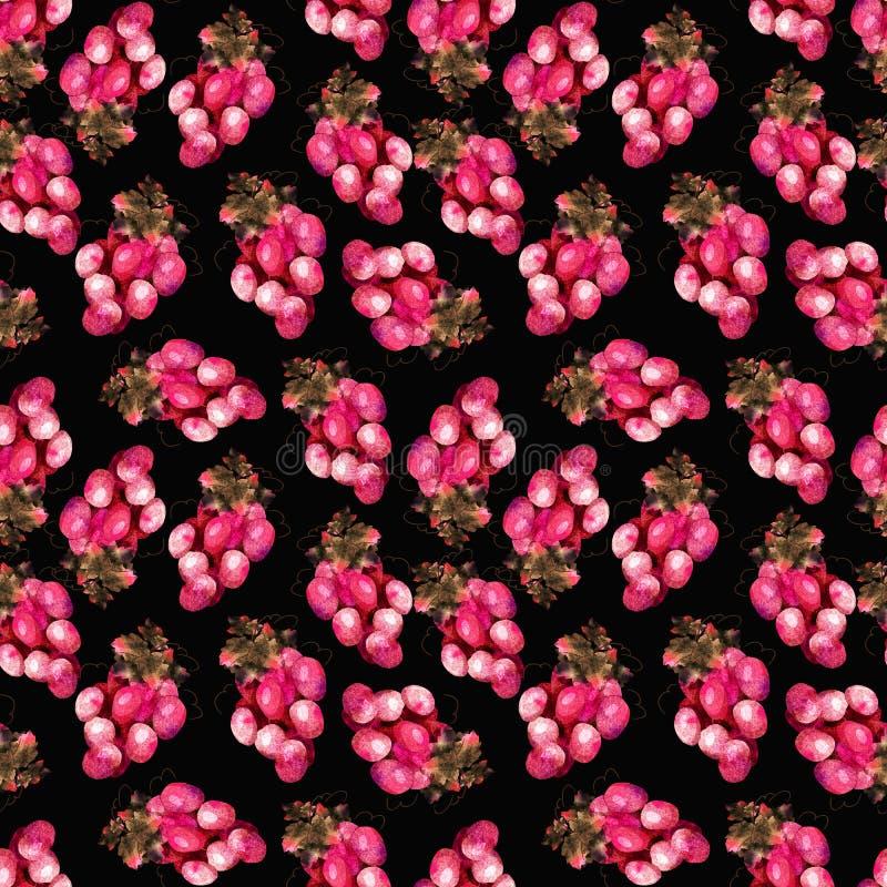 Teste padrão cor-de-rosa da uva ilustração do vetor