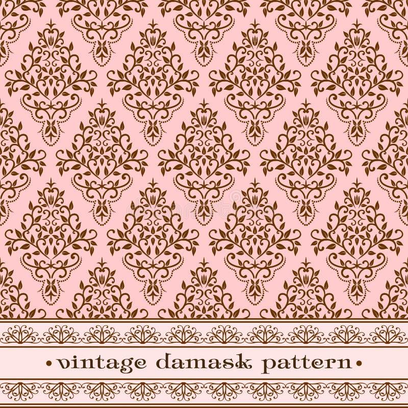 Teste padrão cor-de-rosa do damasco ilustração royalty free