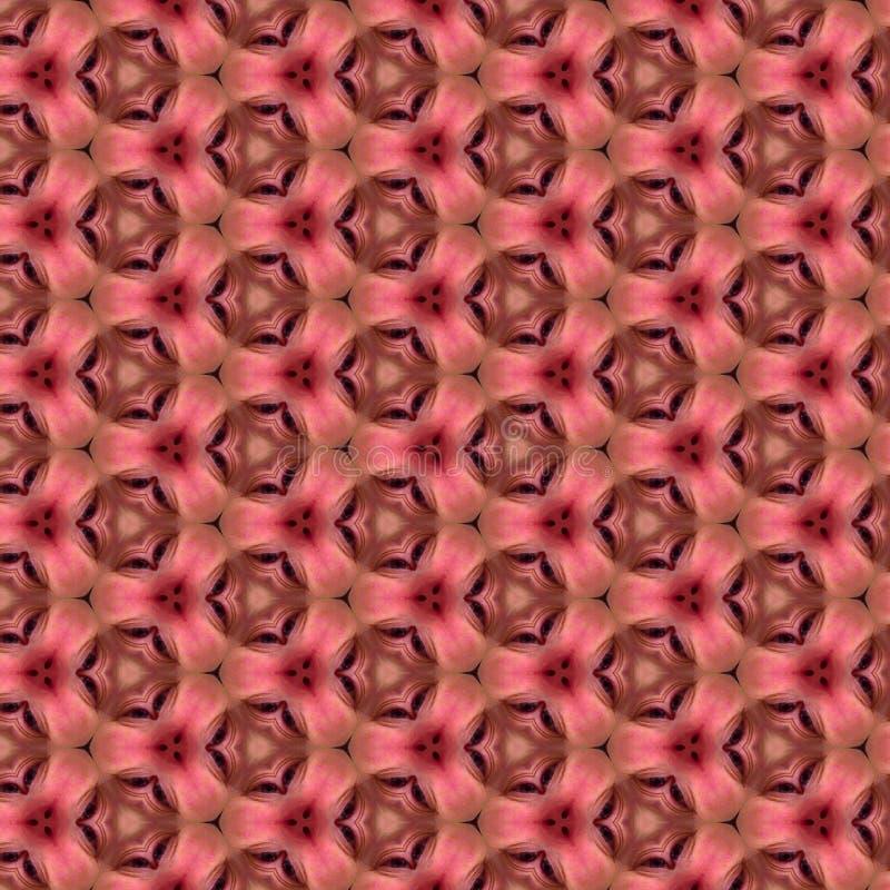 Teste padrão cor-de-rosa do fundo do papel do caleidoscópio imagens de stock