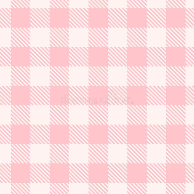 Teste padrão cor-de-rosa do guingão Textura sem emenda do vetor ilustração stock