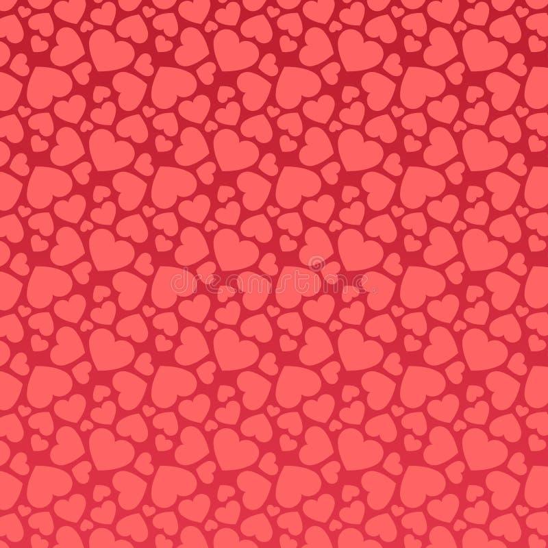 Teste padrão cor-de-rosa sem emenda do coração ilustração royalty free