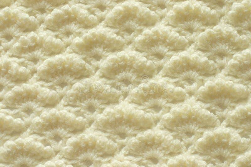 Teste padrão crocheting a céu aberto foto de stock