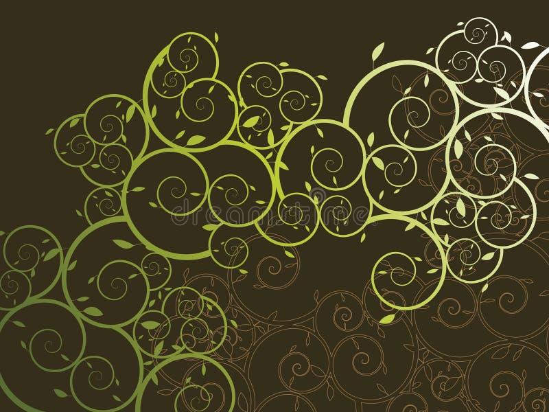 Teste padrão curly decorativo da videira ilustração royalty free