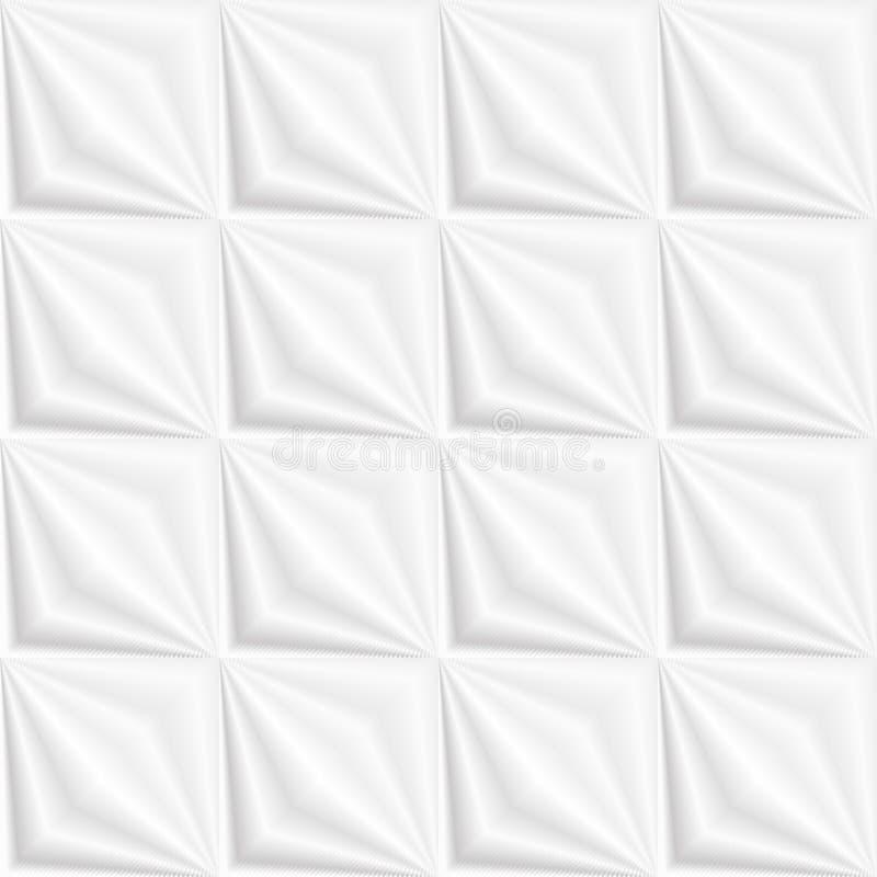 Teste padrão 3D sem emenda da textura branca ilustração royalty free